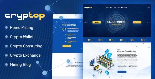 【汉化主题】ICO区块链数字货币着陆页网站WordPress主题 CrypTop – v1.0.4-WordPress汉化资源