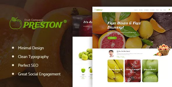 Preston – 水果有机农业WordPress模板 – v1.1.4