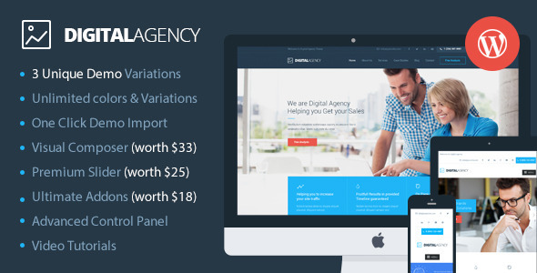 Digital Agency SEO数码 wordpress主题 v2.0