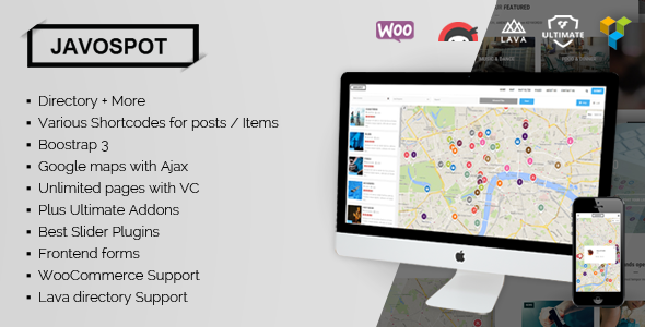 Javo Spot 多用途商家目录 WordPress主题 v1.0.7