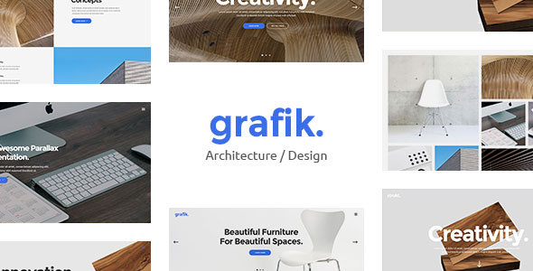 Grafik 作品设计建筑 WordPress主题 v1.1