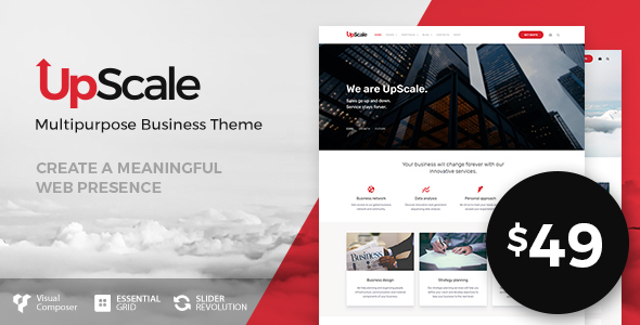 UpScale – 多用途商业WordPress主题-WordPress主题推荐