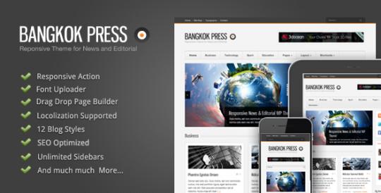 Bangkok Press 自适应&新闻&杂志 WordPress主题 v1.1.5