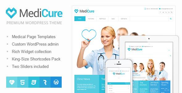 MediCure 医疗健康诊所口腔牙科WordPress主题