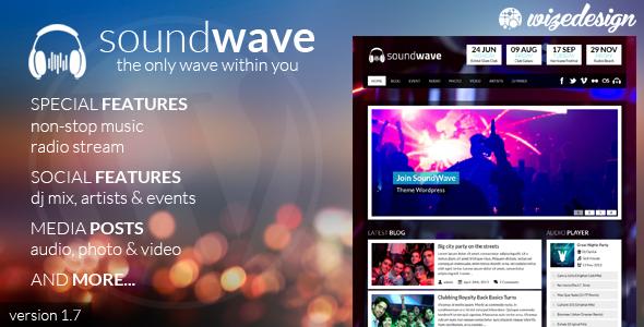 SoundWave 音乐/电台 WordPress主题 v2.2