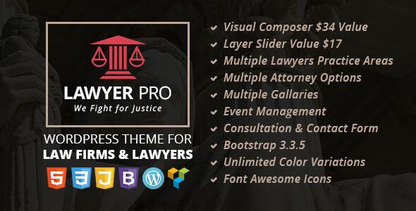 Lawyer Pro v2.0 – 法律事务wordpress主题