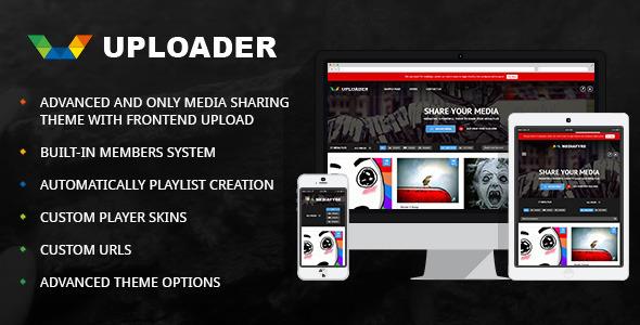 Uploader 媒体分享 WordPress主题 v2.2.5