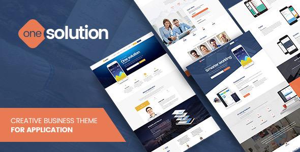OneSolution 应用案例展示网站模板WordPress主题-WordPress主题推荐
